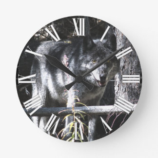 Grey Wolf & Forest Photo Clock