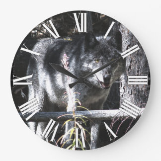 Grey Wolf & Forest Photo Clock