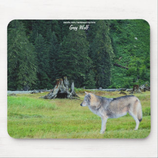 Grey Wolf & Forest Wildlife-supporter Mousepad