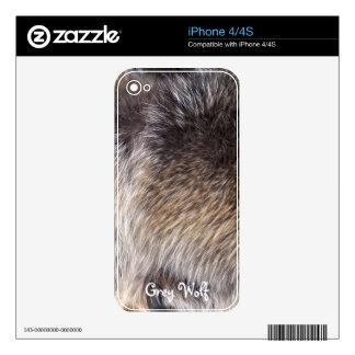 Grey Wolf Fur Wildlife iPhone 4 Skin