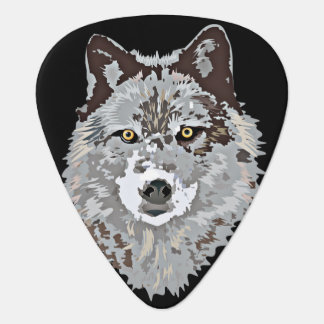 Grey Wolf Guitar Pick