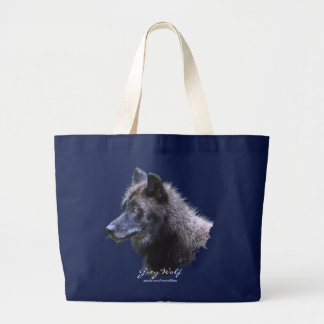 GREY WOLF HEAD Carry-Bag Collection Large Tote Bag