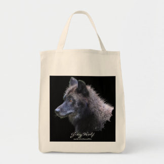 GREY WOLF HEAD Carry-Bag Collection Tote Bag