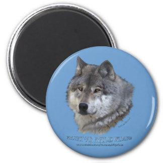 GREY WOLF HEAD Magnet