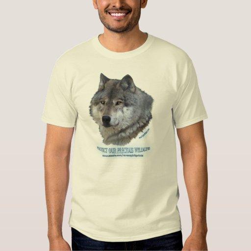 GREY WOLF HEAD T-shirt