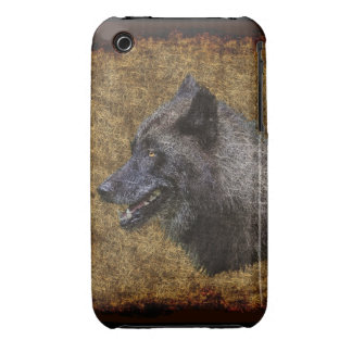 Grey Wolf Head Wildlife Art Phone Case iPhone 3 Cover