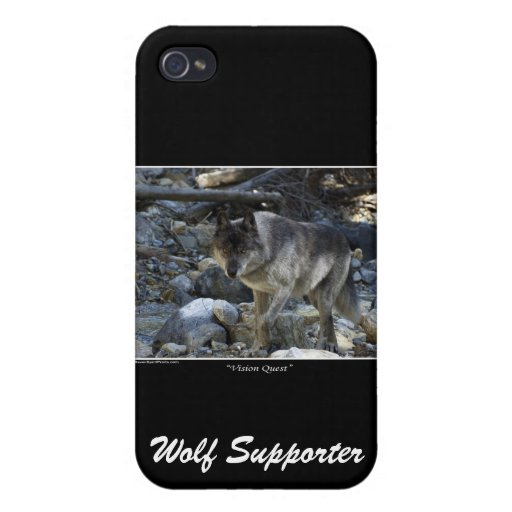 Grey Wolf iPhone Case Covers For iPhone 4