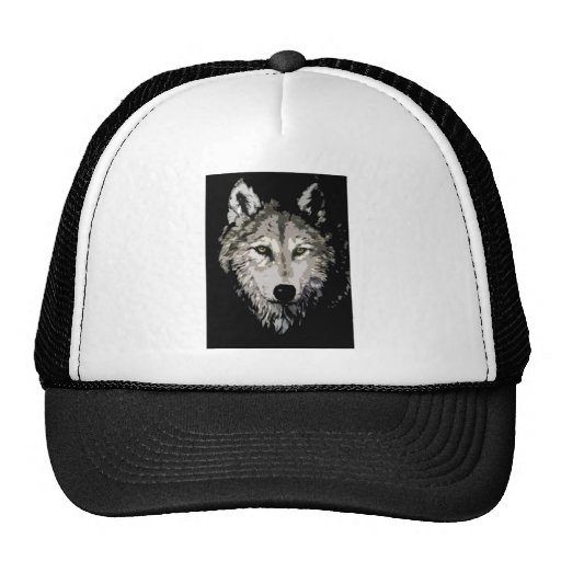 Grey Wolf Mesh Hats