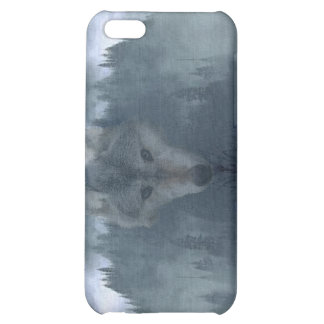 Grey Wolf & Misty Mountain Wildlife iPhone Case Case For iPhone 5C