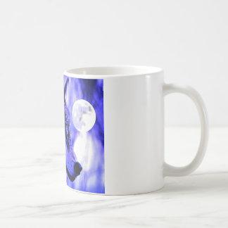 Grey Wolf & Moon Coffee Mugs
