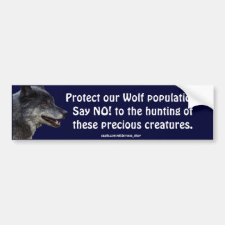 Grey Wolf Motivational Bumper Stickers