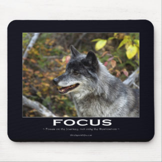 Grey Wolf Motivational Gifts Mouse Pads