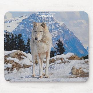 Grey Wolf & Mountain Wildlife-supporter Mousepad