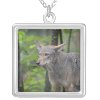Grey Wolf Personalized Necklace