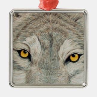 Grey Wolf Christmas Tree Ornament