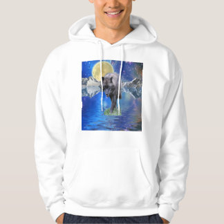 GREY WOLF & OUTER-SPACE Fantasy Wildlife Art Pullover