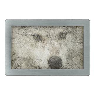 Grey Wolf Pencil Sketch Wildlife Art Gift Belt Buckle