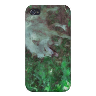 Grey Wolf Photo Art Collection Cover For iPhone 4