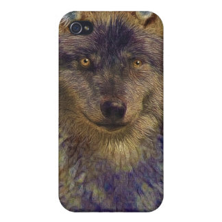 Grey Wolf Photo Art Collection Case For iPhone 4