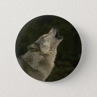 Grey Wolf Pinback Button