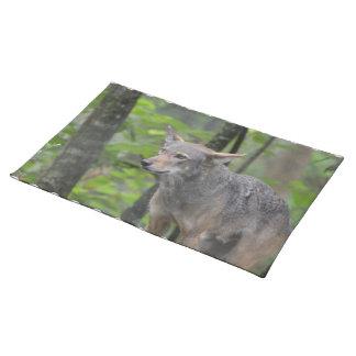 Grey Wolf Cloth Place Mat