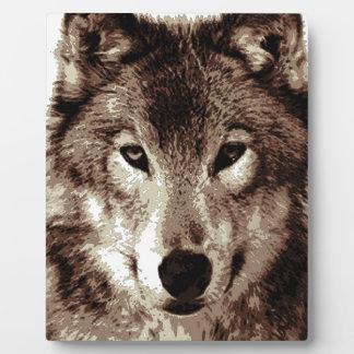 Grey Wolf Plaque