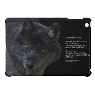 Grey Wolf  & Poem Wildlife iPad Case