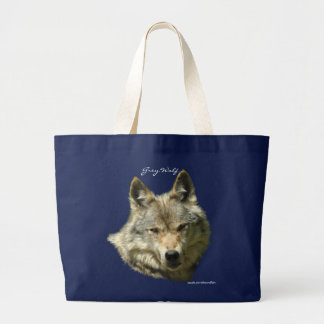 GREY WOLF Portrait Carry-Bag Collection Large Tote Bag
