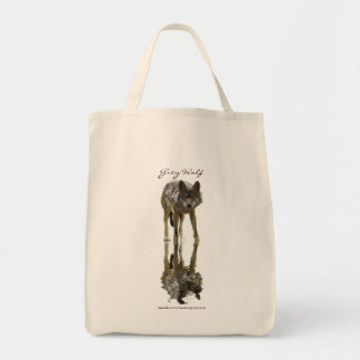 GREY WOLF Portrait Carry-Bag Collection Tote Bag