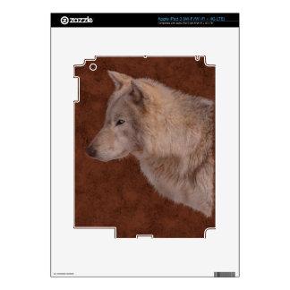 Grey Wolf Portrait Wildlife Art iPad 3 Skins