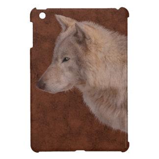 Grey Wolf Portrait Wildlife Art iPad Mini Covers