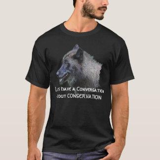 Grey Wolf Portrait Wildlife Conservation T-Shirt