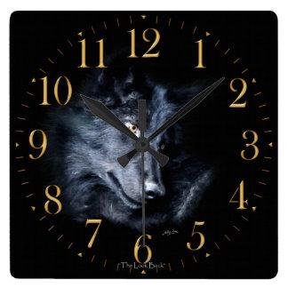 Grey Wolf Portrait Wildlife-Supporter Art Clock