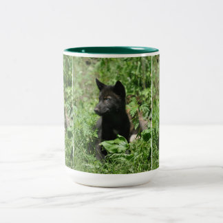 Grey Wolf Pup Wildlife Photography Mug