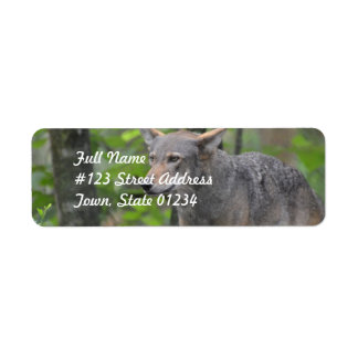 Grey Wolf Return Address Label