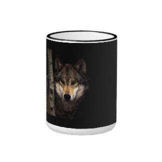 Grey Wolf Ringer Mug
