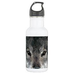 Grey Wolf Stainless Steel Water Bottle