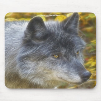 Grey Wolf Study Wildlife Supporter Mousepad