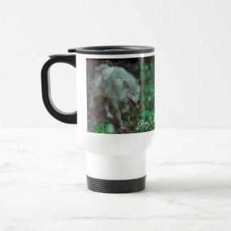 GREY WOLF Supporter Wildlife Gift Travel Mug