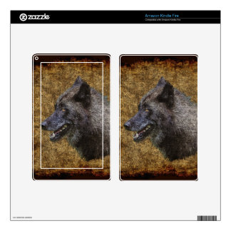 Grey Wolf Timber Wolf Wildlife-supporter Art Kindle Fire Skins