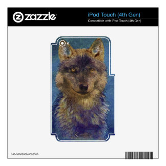 Grey Wolf Timber Wolf Wildlife-supporter Art Skins For iPod Touch 4G