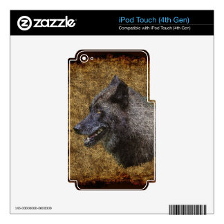 Grey Wolf Timber Wolf Wildlife-supporter Art iPod Touch 4G Decals