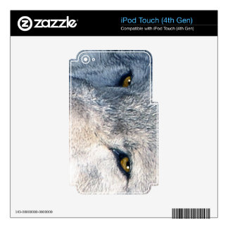 Grey Wolf Timber Wolf Wildlife-supporter Art iPod Touch 4G Skin