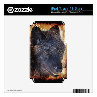 Grey Wolf Timber Wolf Wildlife-supporter Art Decals For iPod Touch 4G