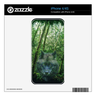 Grey Wolf Timber Wolf Wildlife-supporter Art Skins For The iPhone 4
