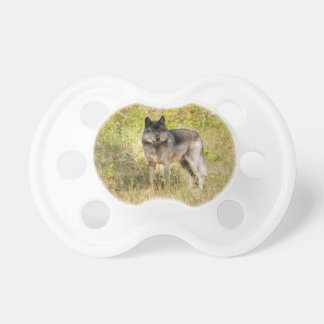 Grey Wolf & Wilderness Photo Gift Pacifier