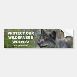Grey Wolf Wildlife Conservation Bumper sticker