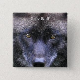 Grey Wolf Wildlife-lover Collector Badge Button