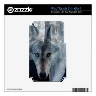 Grey Wolf Wildlife-lover Electronics Device Skin Skins For iPod Touch 4G