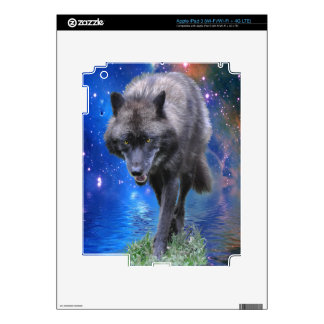 Grey Wolf Wildlife-lover Electronics Device Skin iPad 3 Decals